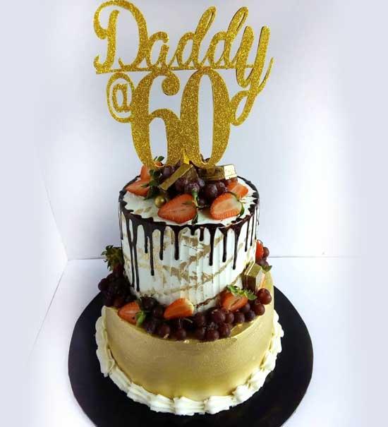 haddicious golden 2 tier cake