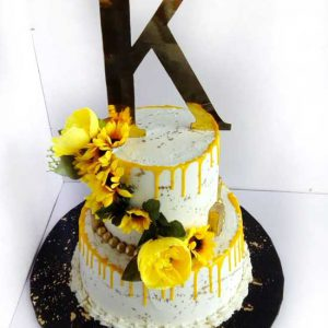 haddicious sunflower 2 tier cake