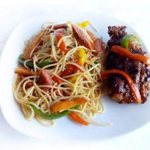 Stir Fry Spaghetti with Chicken